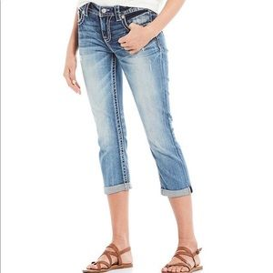 Miss Me Cropped Jeans, Size 28